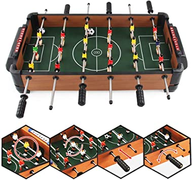 Guohailang Mesa de futbolín Mesa de futbolín Deportes Juegos for Adultos y niños futbolín Fútbol Tableros Mini portátil de Mano del tamaño de fútbol de Mesa Ocio Futbolín Futbolín: Amazon.es: Hogar