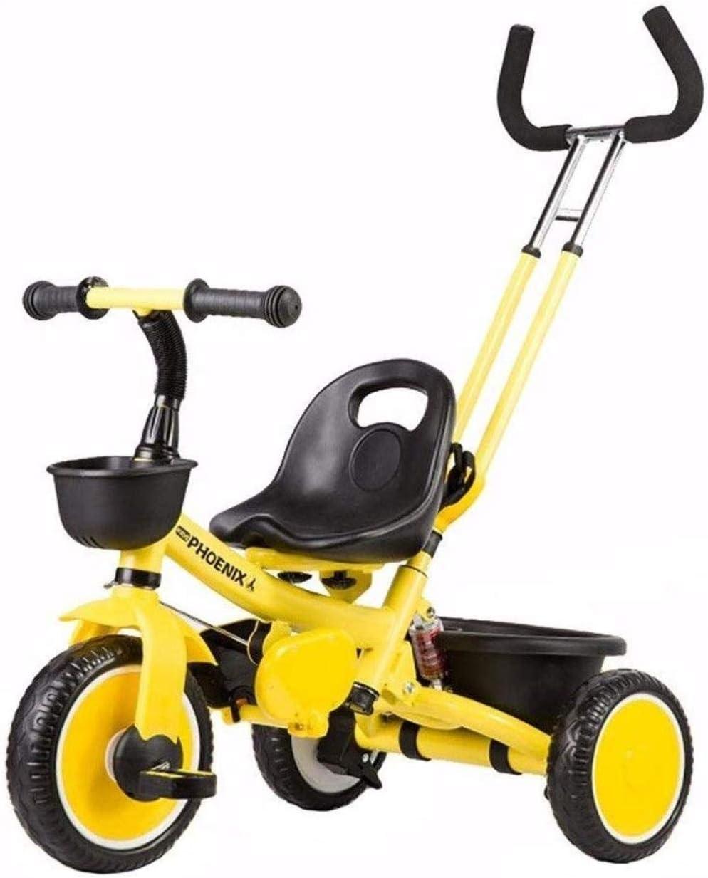 Archivadores Caballo de oscilación Trikes triciclo 2 en 1 triciclo triciclos for niños pequeños bicicletas estribo de empuje de los niños Grow-Head con altura ajustable de empuje paseo en triciclo Art