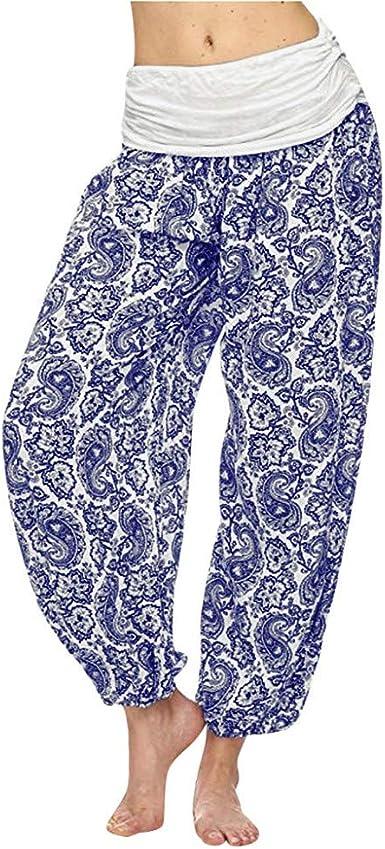 Pantalones Harem De Impreso Pantalon Suelto Y Transpirable Pantalones Anchos De Cintura Alta Pantalones De Playa Estampados Para Mujer Pantalones Casual Para Mujer Pantalones Impresos Para Mujer Amazon Es Ropa Y Accesorios