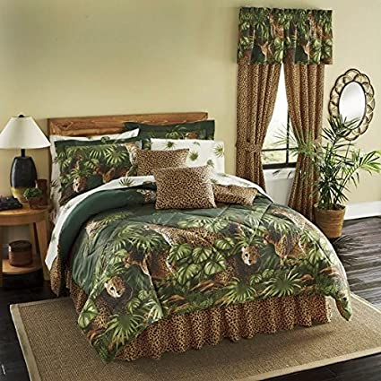Cheetah, Leopard, Jungle, Wild Cat Full Comforter Set (8 Piece Bed In