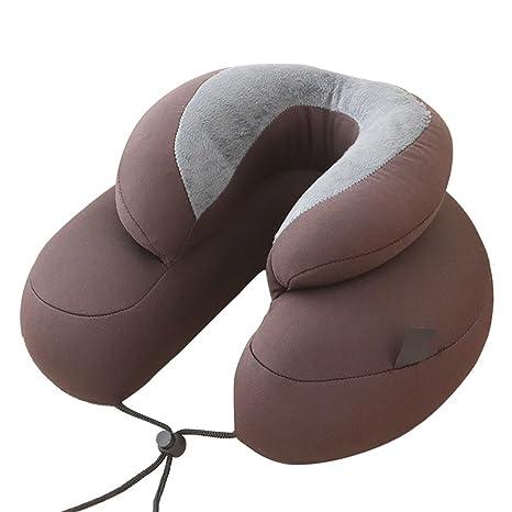 Cuscino Da Viaggio Cotone.Cuscino Da Viaggio Di Lusso 100 Cotone Supporto Memory Foam Neck