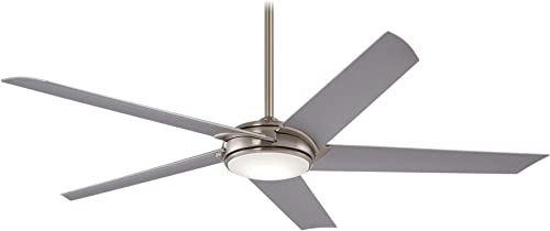Minka Aire Raptor 60 in. Integrated LED Indoor Brushed Nickel Ceiling Fan