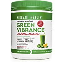Vibrant Health - Green Vibrance, Plant-Based Superfood to Support Immunity, Digestion, and Energy with Over 70 Ingredients, 25 Billion Probiotics, Gluten Free, Non-GMO, Vegetarian, 60 Servings (FFP)