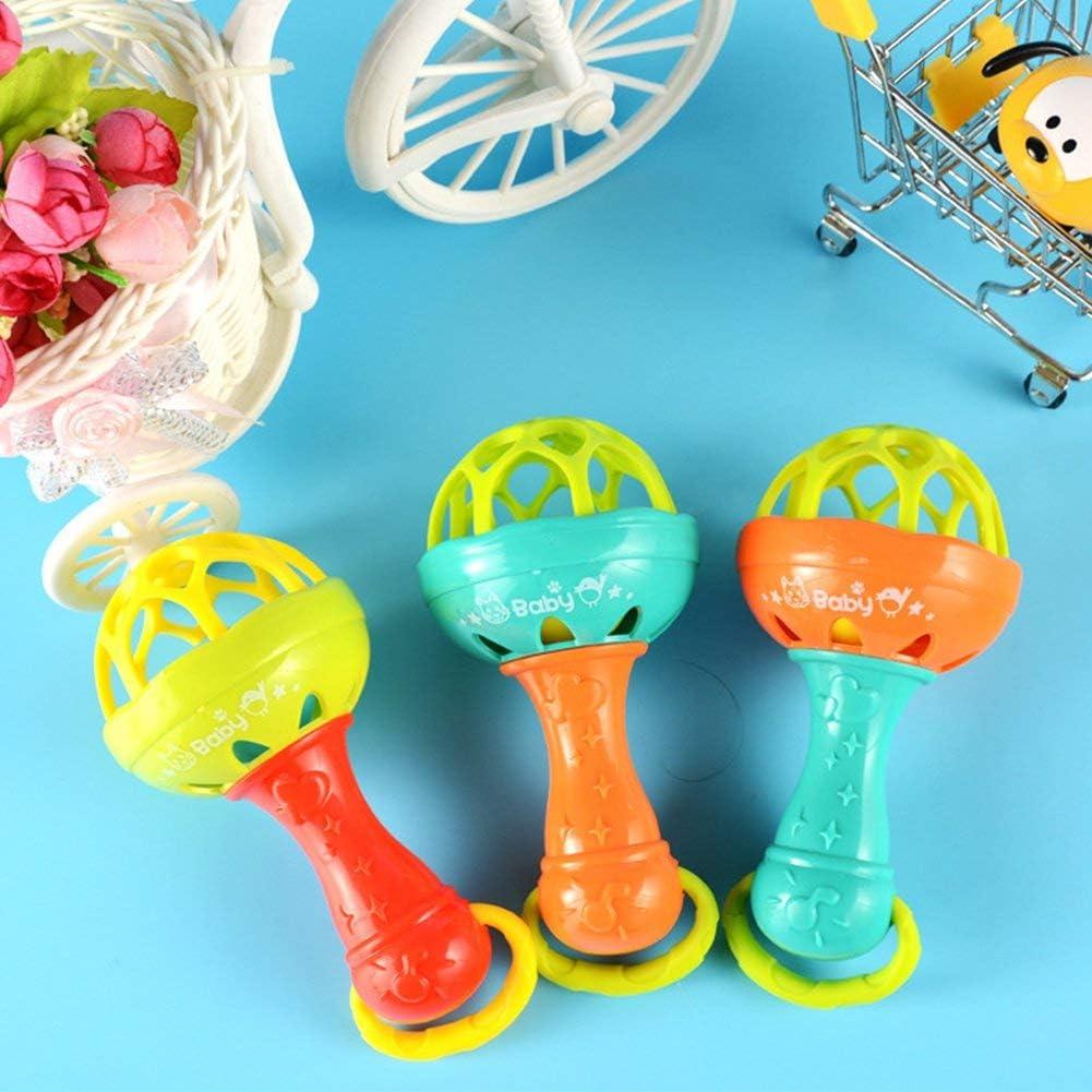 Ogquaton /B/éb/é hochet jouet balle B/éb/és jouets Shakers hochets b/éb/é halt/ère main secouer cloche Durable et utile
