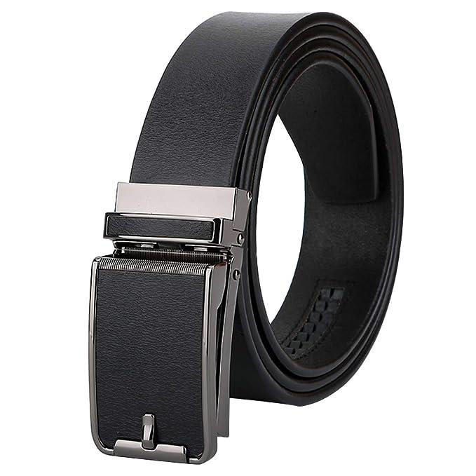Cinturón Hombre Cuero Marrón Negro, Largo 110-125 Cm ...