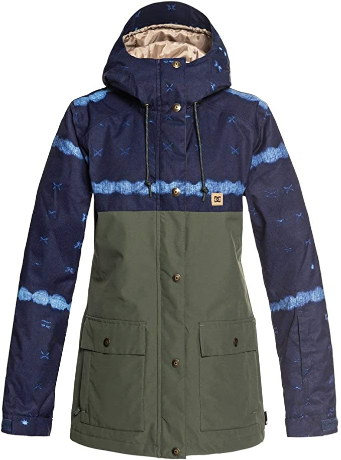 TALLA M. DC Shoes Cruiser JKT Dark Blue MUD Cloth B Giacca Snowboard Donna AI18