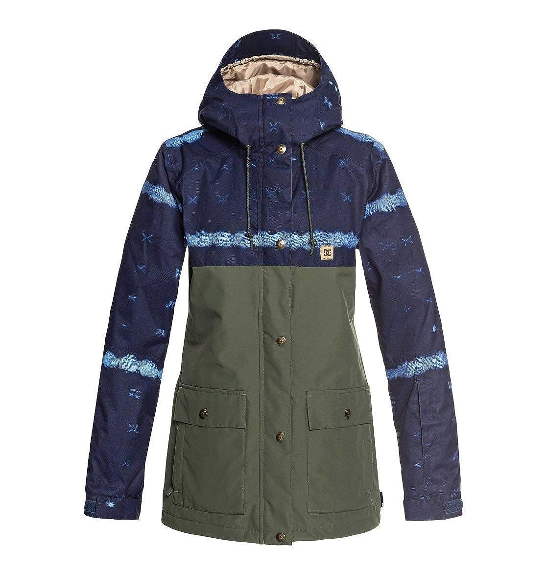 TALLA M. DC Shoes Cruiser JKT Dark Blue MUD Cloth B Giacca Snowboard Donna AI18