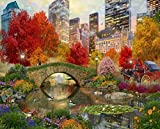 Springbok Puzzles - Central Park Paradise of 1000 Pieces - Large 30 by 24 inch Jigsaw Puzzle - Made in USA - Unique Cut Interlocking Pieces
