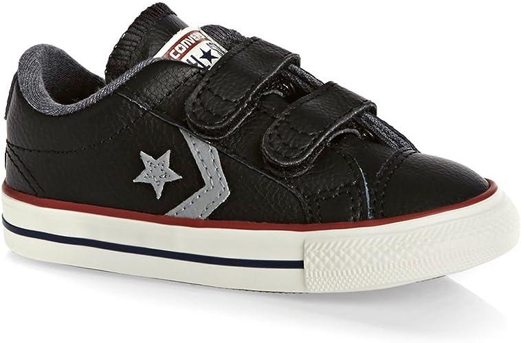 Converse Kinder Player 2V Leder Schuhe in schwarzem Leder