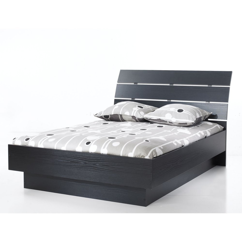 Tvilum Scottsdale Platform Bed in Black Woodgrain – Queen