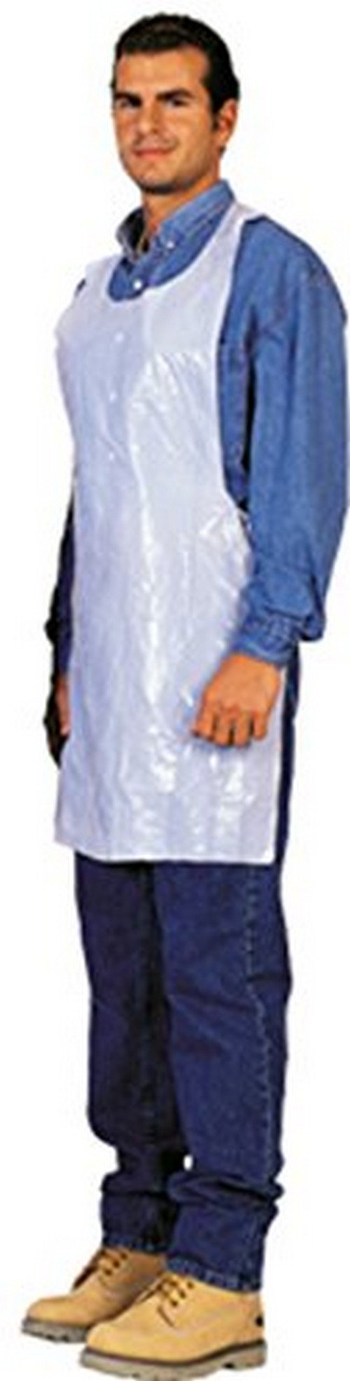 Disposable White Poly Aprons 1 Box (100 Count) by xpose safety