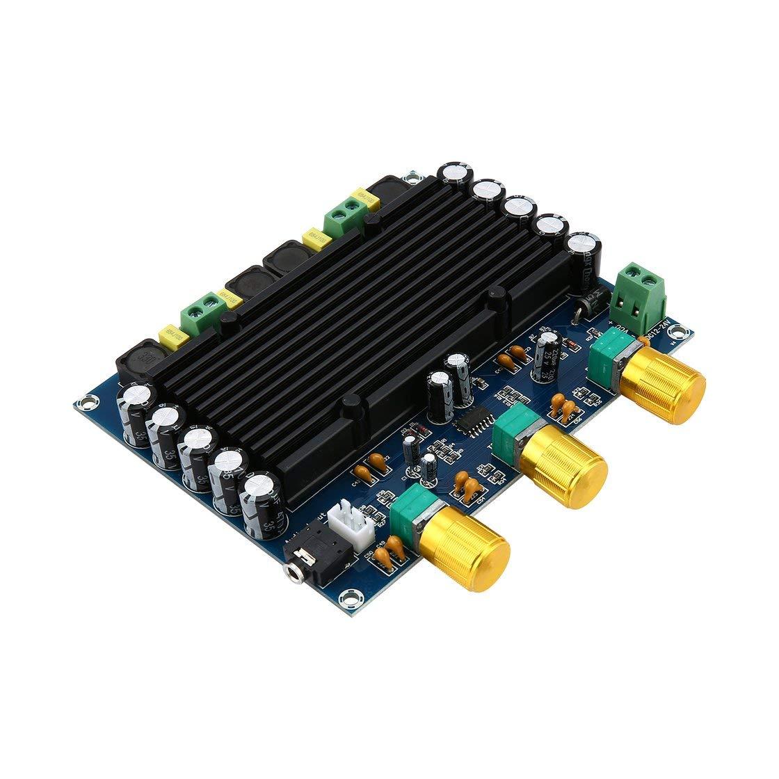 Nueva versión de Alta Potencia Amplificadores Dual Chip TPA3116D2 150W x 2 Tablero del Amplificador Digital 12-24 V de Doble Canal estéreo
