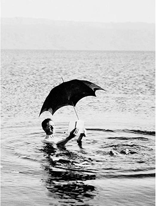 Amazon.com: Wee Blue Coo Vintage Photography Man Dead Sea Umbrella Book Jordan Palestine Unframed Wall Art Print Poster Home Decor Premium: Home & Kitchen
