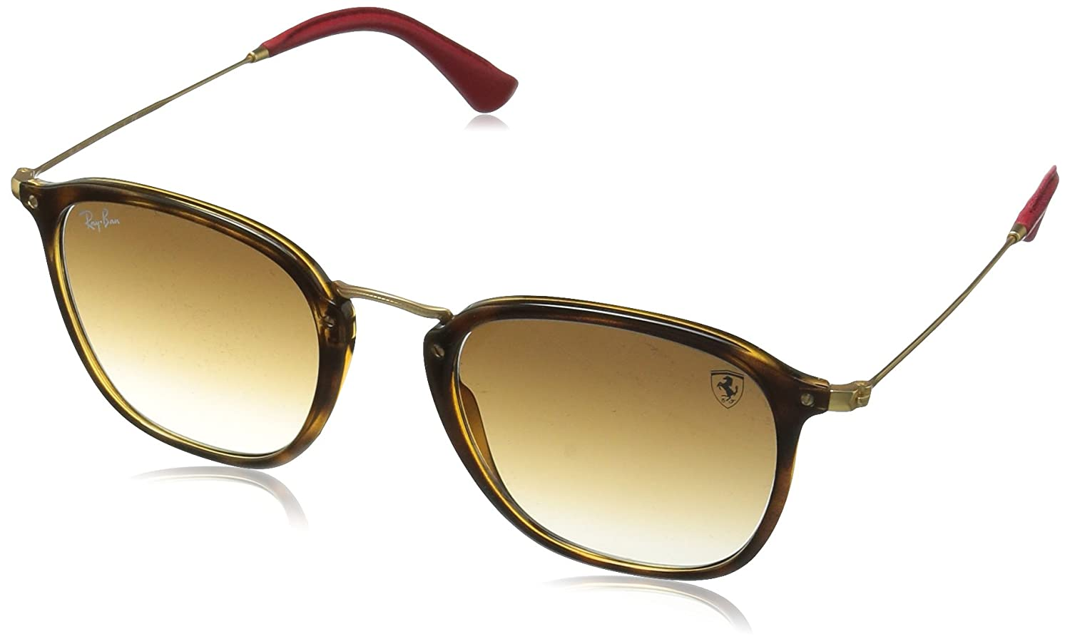 2f445e161c Amazon.com  Ray-Ban RB2448NM Scuderia Ferrari Collection Sunglasses  (Black Silver