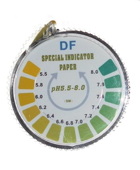 Rollo Simplex Health para medición de pH en saliva, agua u orina (5 metros