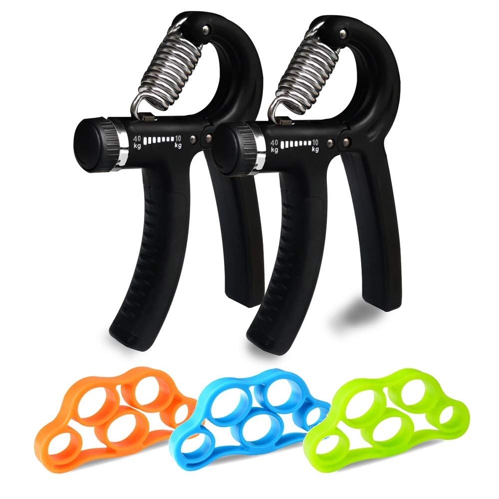 YSJ Hand Grip Strengthener, Adjustable Gripper Strength Trainer Hand Exerciser Squeeze Grip Finger Wrist Strength Exerciser for Men and Women