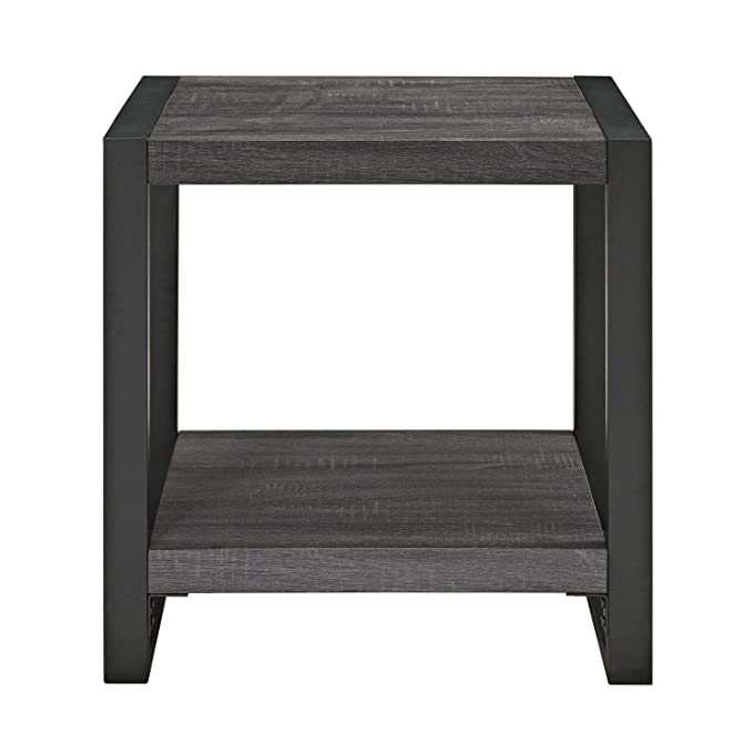 WE Furniture AZ24CGSTCL Side Table Charcoal