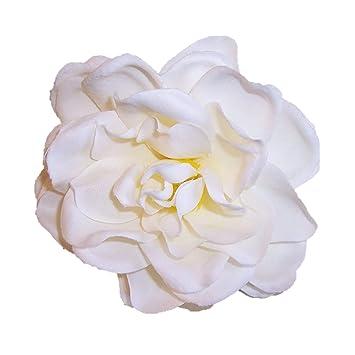 Amazon Silk Flower Hair Clippin Brooch Gardenia White Beauty