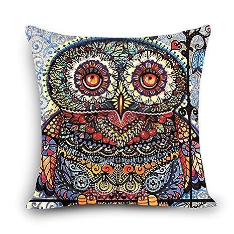 MAYUAN520 Cojines Cantando Cartoon Owl Impreso Silla De ...