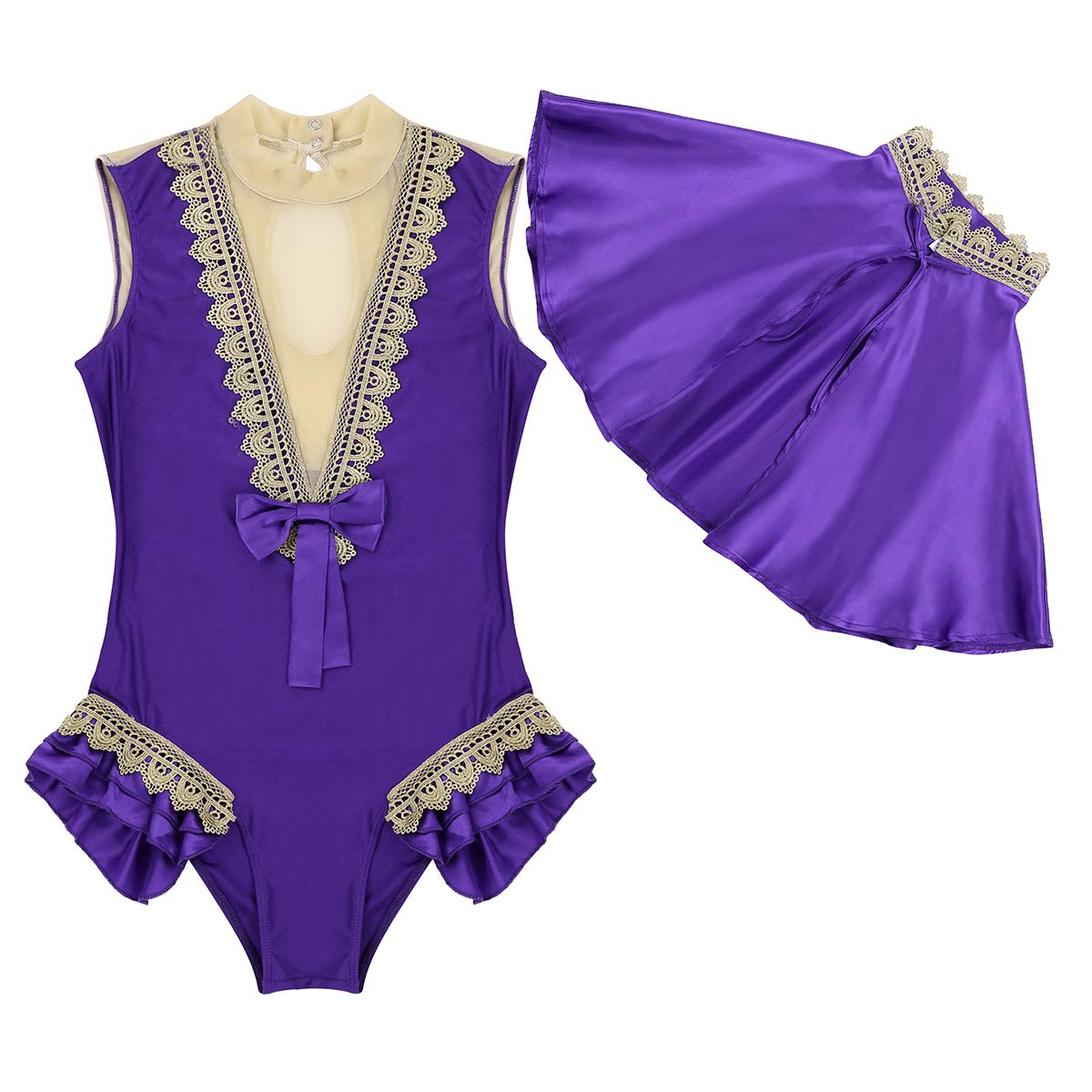 iiniim 2 Pcs Women Adults Showman Cosplay Costume Halloween Party Role Play Outfit Bodysuit