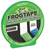 FrogTape CF 120 Painter's Tape, Multi-Surface, 24mm x 55m, Green, 1 Roll (187649)