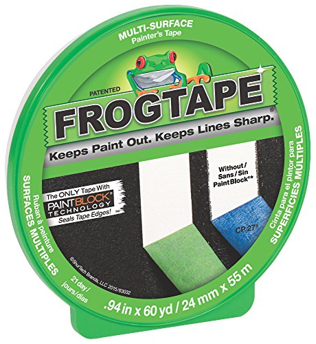 FrogTape CF 120 Painter's Tape, Multi-Surface, 24mm x 55m, Green, 1 Roll ()