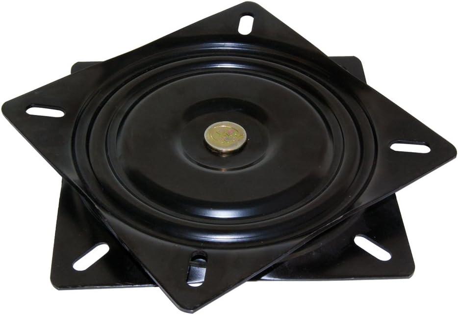 Emuca 3196514 Base giratoria/plataforma rotatoria de 360° para mueble/pantalla TV/monitor de acero color negro: Amazon.es: Bricolaje y herramientas
