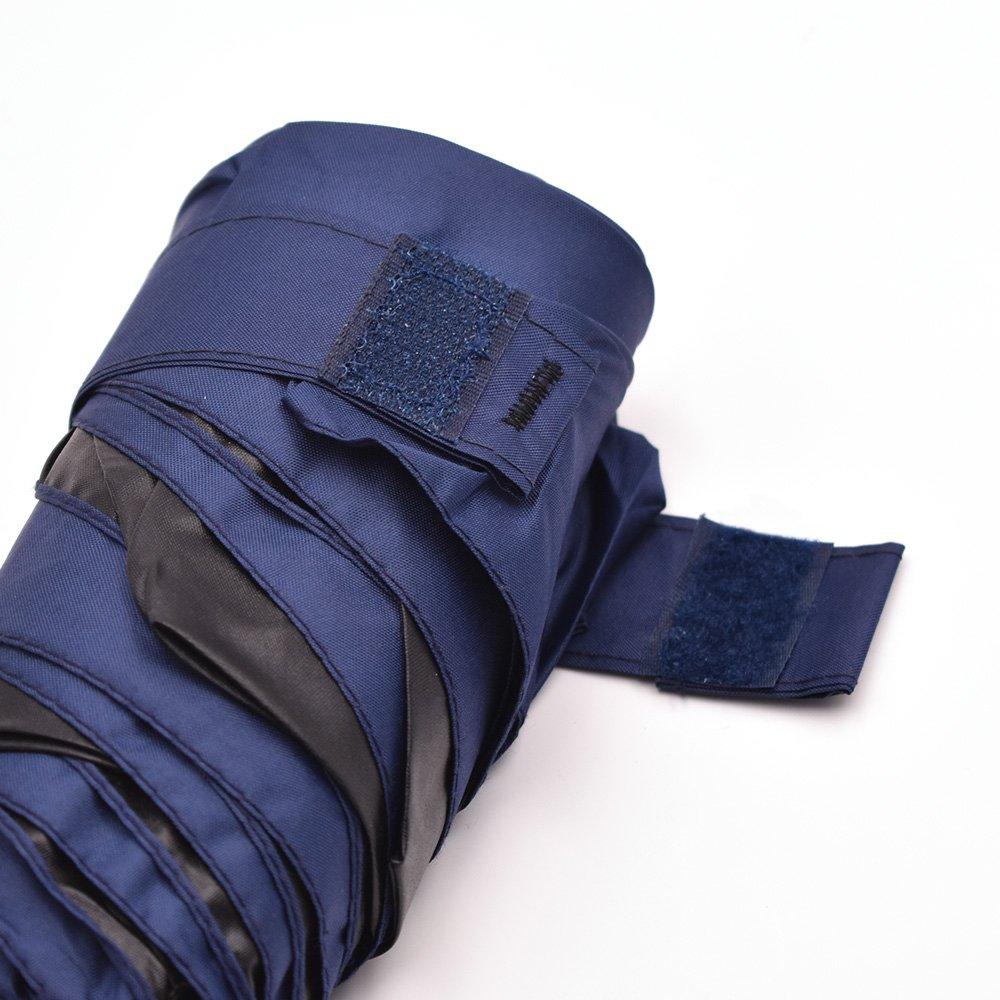 OutMorgo Mini Sun&Rain Umbrella Compact Small Lightweight Umbrella for Women Kids,Fit in Purse 23 Colors - Dark Blue