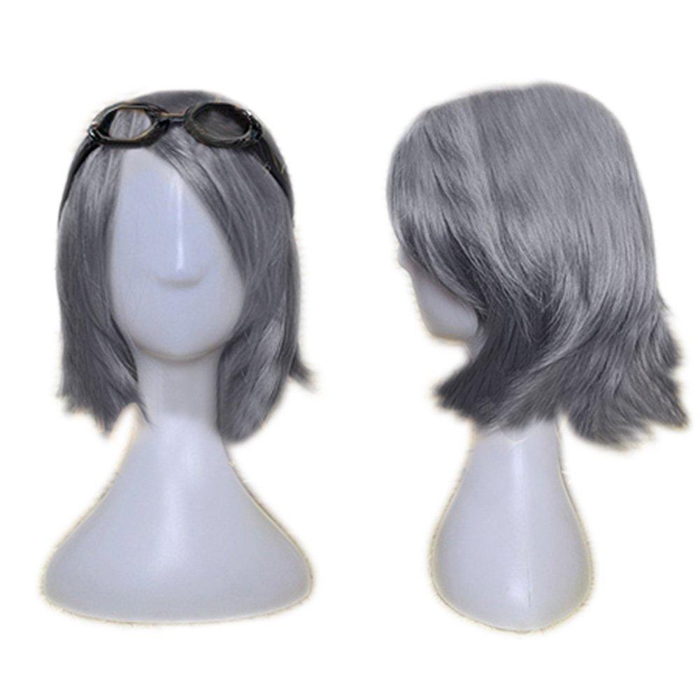 Mens Carnival John Male Shorthair Grey Wig For Men