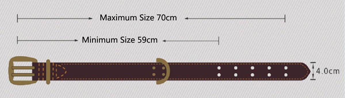 Rantow Collier r/églable en cuir pour chiens de grande taille 1,57 pouces de large noir super forts trous de ceinture double longueur r/églable de 23,5 pouces /à 27,5 pouces