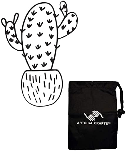 Darice Embossing Folders for Card Making Si x Arm Cactus 4.25 x 5.75 inches 30041333 Bundle with 1 Artsiga Crafts Small Bag