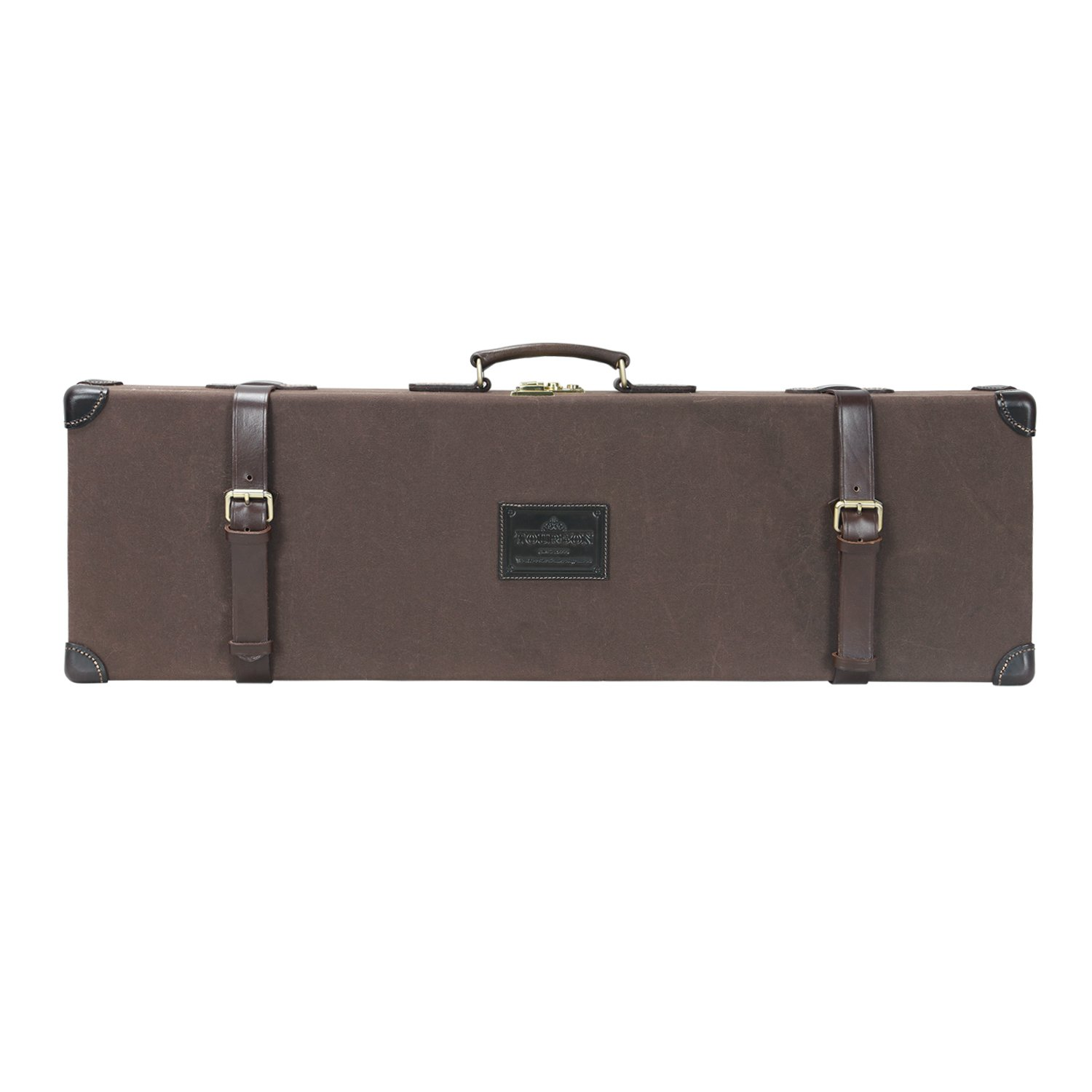 TOURBON Vintage Canvas 32 inch Barrel Shotgun Gun Case Hard with Soild Brass Lock by TOURBON