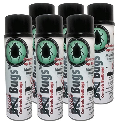 Bed Bug Killer Spray Dead Bugs Bed Bug Spray Bed Bug Treatment and Multi-Purpose Insect Aerosol spray - 6 Aerosol Spray Cans (16 Oz per (Dead Bed Bugs)