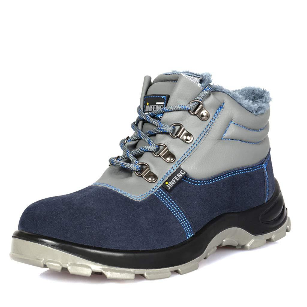YXWa Bottes d'ingénieur Chaussure de Travail imperméable pour Hommes avec Embout de sécurité en Acier Ultra léger pour Hommes Chaussures d'ingénierie (Taille   39)