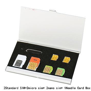 Myymee 2 Soportes de Tarjeta SIM + 2 Tarjeteros Micro Sim + ...
