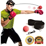 Gdaytao Boxing Reflex Ball, Boxing Equipment with Headband, 2 Training Speed Levels, Great Fight Trainer on String, Perfect Improving Speed Reactions, Agility, Punching Speed Hand Eye Coordination