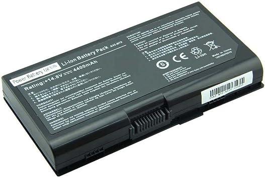 Power Battery UK - ASUS A42-M70, 15G10N3792T0, 15G10N3792YO reemplazo de la batería portátil ajuste ASUS M70V, X71, G71, X72, N70SV serie laptops (14.8V, 4400mAh, de 8 celdas): Amazon.es: Electrónica