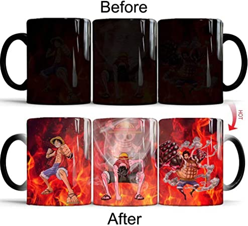 One Piece-Chaleur Changement Luffy /& Ace Mug