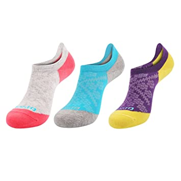 3 Pack Pink or Purple Breathable Cooling Ladies Trainer Socks Running Fitness