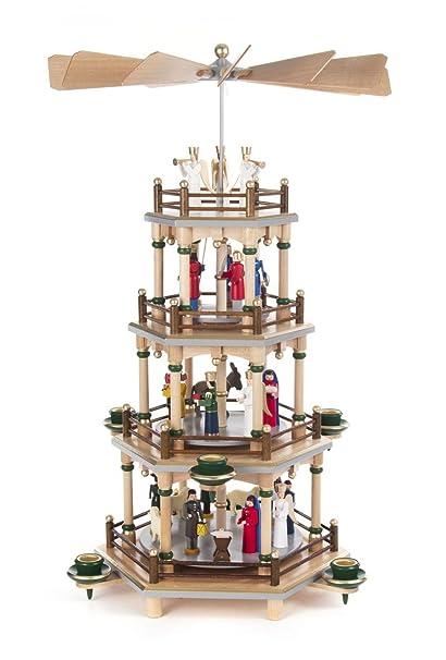 pinnacle peak trading company colorful nativity german christmas pyramid 4 tier