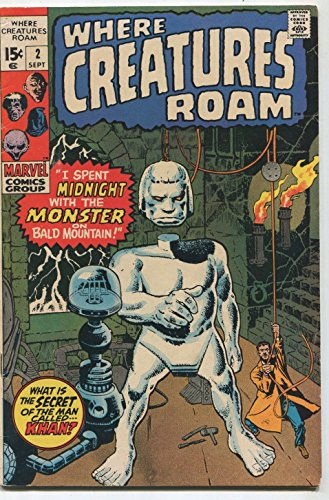 Where Creatures Roam #2 FN What Is The Secret Of The Man Called KHAN Marvel SA