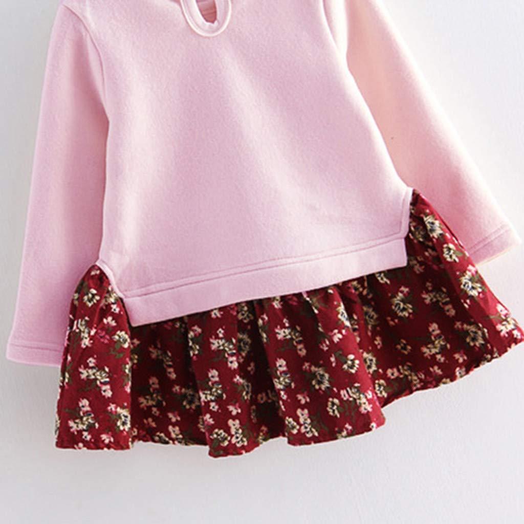 Dress Toddler Kids Baby Girl Cartoon Rabbit Bunny Floral Princess Party Clothes