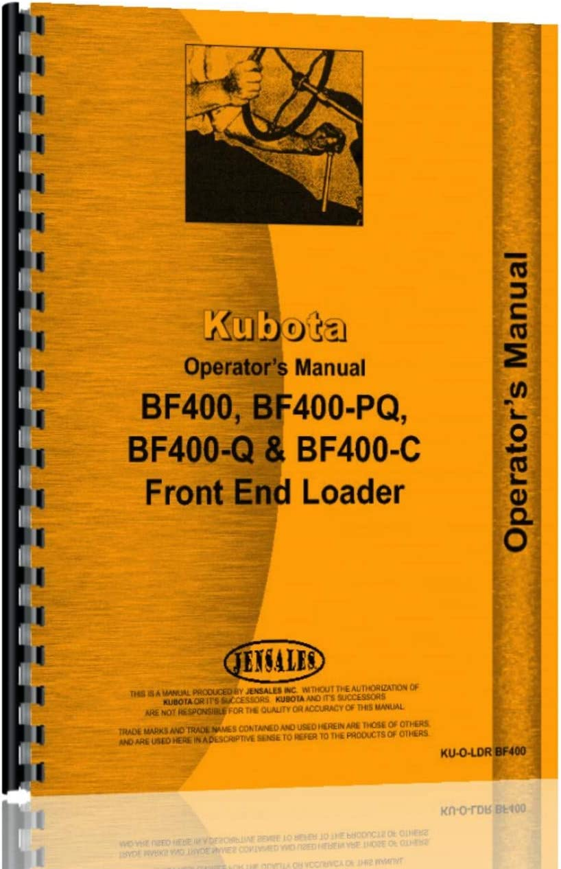 ghdonat.com L275DT Tractor Operators Manual L275F Kubota BF400-C ...