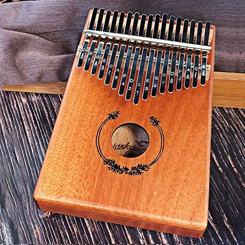 Muziekinstrument 17 Toetsen Zwart Stijlvol Thumb Piano Mahonie Body Muziekinstrument