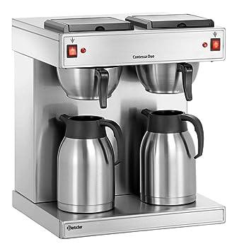 Bartscher doble Cafetera Eléctrica/estación de café Acero inoxidable | 2 x 2 litros: Amazon.es: Hogar