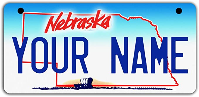 License Plate Iowa Wave 3 Antique Classic Customizable 6 x 12 Aluminum Vanity License Plate