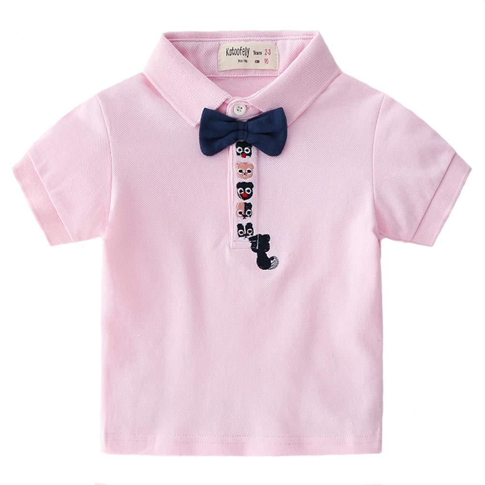 Coralup - Polo - para niño Tie Pink 7-8 años: Amazon.es: Ropa y ...