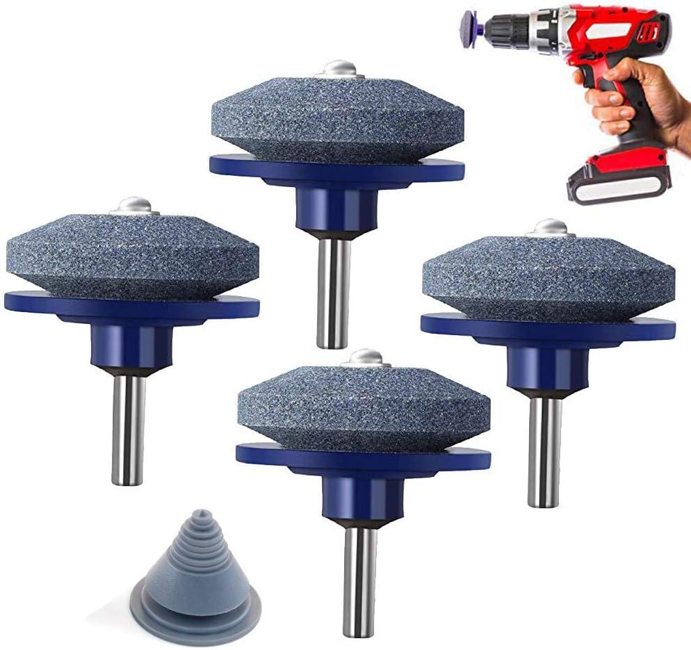4 paquetes de cortadora de césped para taladro con 1 kit de equilibrador de cuchillas para cortacésped y cortadora de césped para la mayoría de taladros de mano