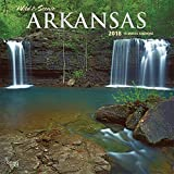 Arkansas, Wild & Scenic 2018 12 x 12 Inch Monthly Square Wall Calendar, USA United States of America Southeast State Nature