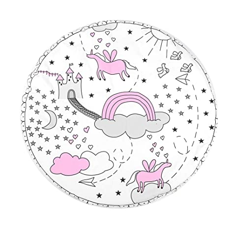 Cojín suave de arrastre Patrón Unicornio Algodón Bebé Niño ...